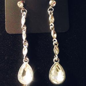 Crystal &Silver Dangle Earrings